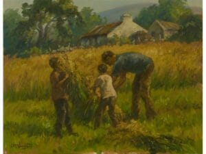Father & Sons Gathering Corn