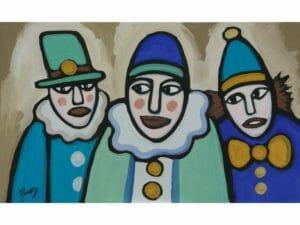 Three Clowns Three Amigos